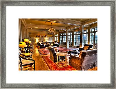 The Lobby At The Sagamore Resort Framed Print by David Patterson