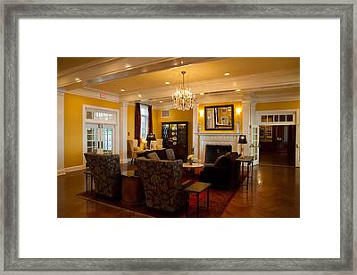 The Lobby Fireplace At The Sagamore Resort Framed Print by David Patterson