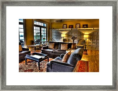The Lobby In The Sagamore Framed Print by David Patterson
