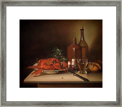 The Lobster Meal Framed Print