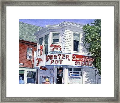 The Lobster Pot Framed Print by Heidi Gallo