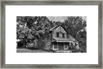 The Local Haunted House Framed Print by Heather Applegate