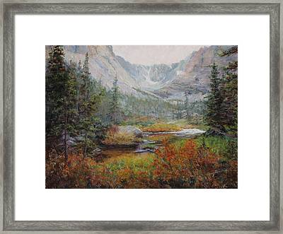 The Loch Framed Print by Mary Giacomini