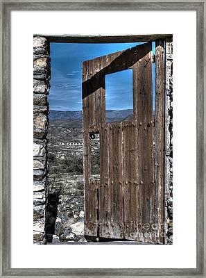 The Lockless Door Framed Print by Heiko Koehrer-Wagner