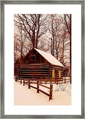 The Log Cabin At Old Mission Point Framed Print