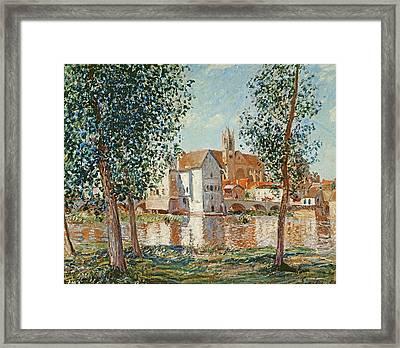 The Loing At Moret September Morning Framed Print by Alfred Sisley