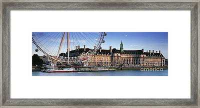 The London Eye And County Hall Framed Print by Rod McLean