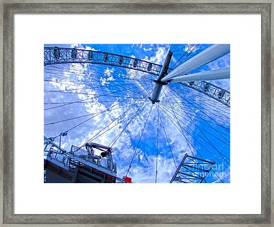 The London Eye Framed Print by Andrew Middleton