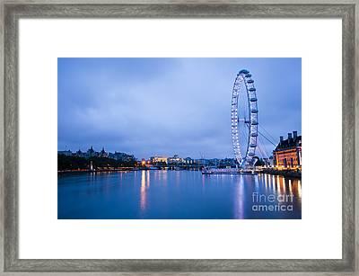 The London Eye Dawn Light Framed Print by Donald Davis