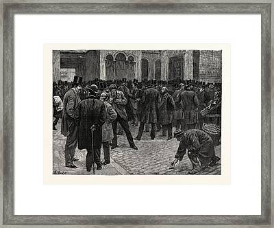 The London Stock Exchange Framed Print by English School