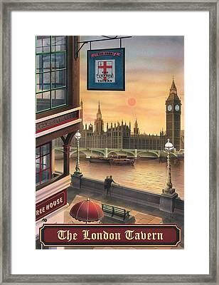 The London Tavern Framed Print by Peter Green