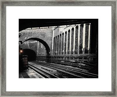 The London Underground  Framed Print