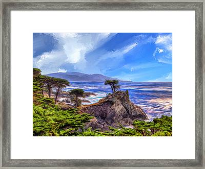 The Lone Cypress Framed Print by Dominic Piperata