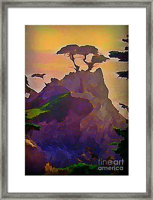 The Lone Cypress Framed Print by John Malone