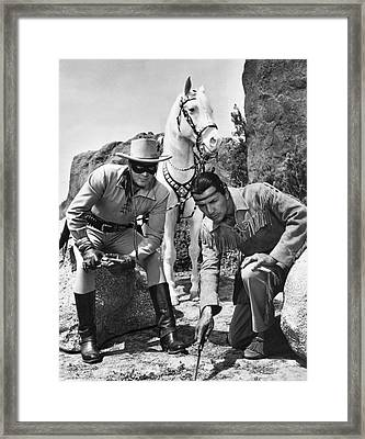 The Lone Ranger And Tonto Framed Print