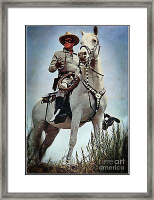 The Lone Ranger Framed Print by Bob Hislop