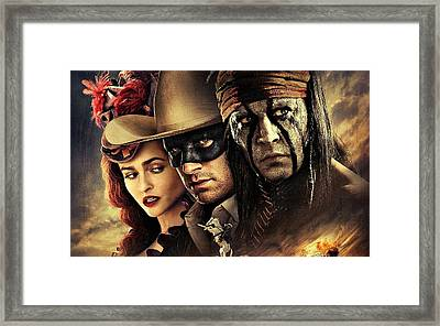 The Lone Ranger Framed Print by Movie Poster Prints