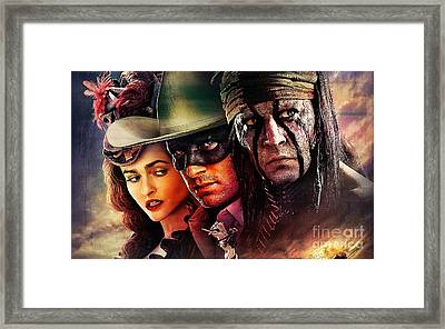 The Lone Ranger Painting Framed Print by Marvin Blaine