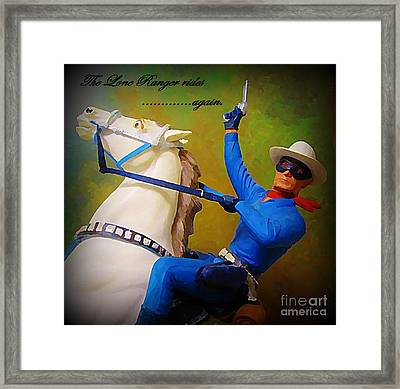 The Lone Ranger Rides Again Framed Print by John Malone