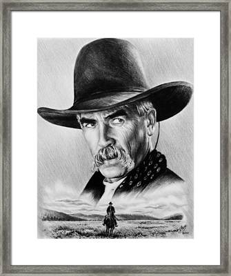 The Lone Rider  Wash Effect Framed Print