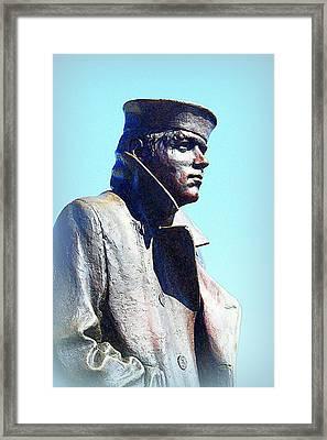 The Lone Sailor Framed Print by Greg Thiemeyer