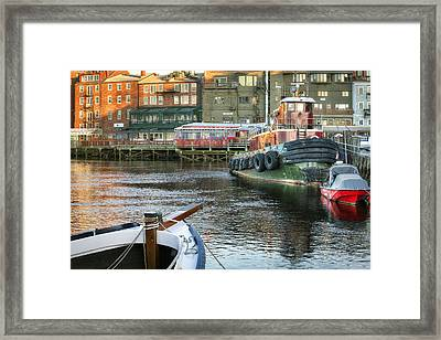The Lone Tug Framed Print by Eric Gendron