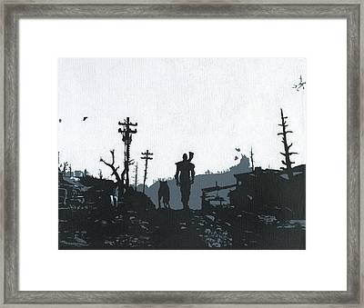 The Lone Wanderer From Vault 101 Framed Print by Jezebel X