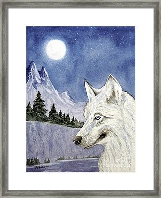 The Lone Wolf Framed Print by Bill Holkham