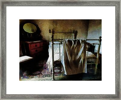 The Loneliness Of An Unmade Bed Framed Print by Steve Taylor