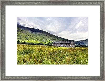 The Lonely Barn Framed Print by Chris Whittle