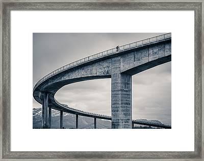 The Lonely Biker Framed Print