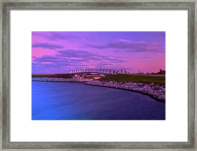 Framed Print featuring the photograph The Lonely Bridge by Jonah  Anderson