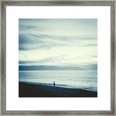 The Lonely Fisherman Framed Print