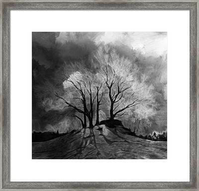 The Lonely Grave Framed Print by Steve K