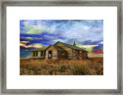 The Lonely House Framed Print