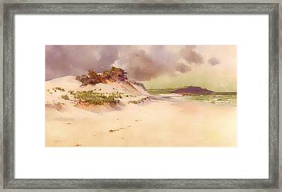 The Lonely Margin Of The Sea Framed Print by Mountain Dreams