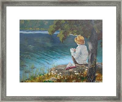 Framed Print featuring the painting The Loner by Tony Caviston