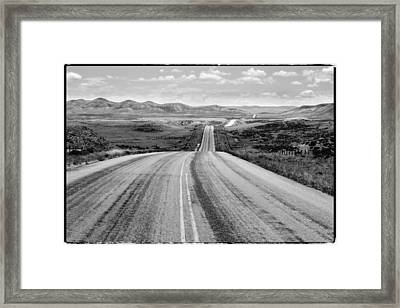 The Long And Lonely Road Framed Print