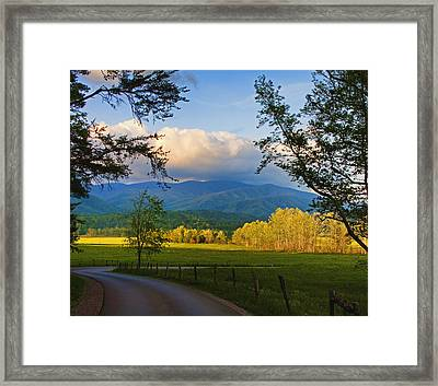The Long And Winding Road Framed Print by Dave Bosse