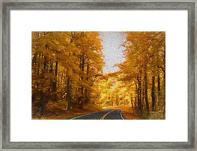 The Long And Winding Road Framed Print by Kim Hojnacki