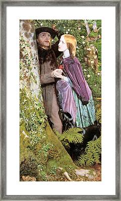The Long Engagement Framed Print by Arthur Hughes