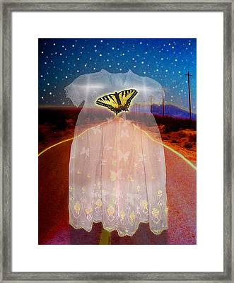 The Long Highway Framed Print by Larry Butterworth