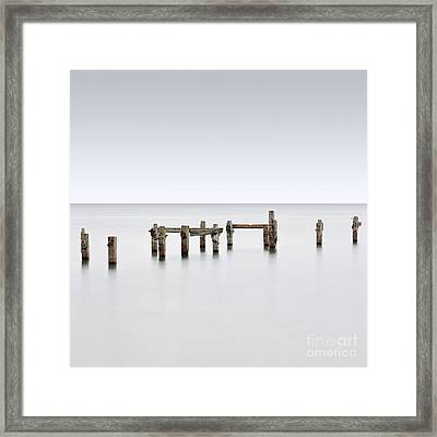 The Long Old Pier Framed Print by Richard Thomas
