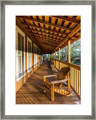 The Long Porch Framed Print by Beverly Parks