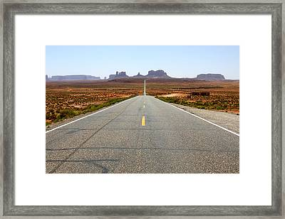 The Long Road #2 Framed Print by Angie Wingerd