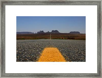 The Long Road  Framed Print by Angie Wingerd