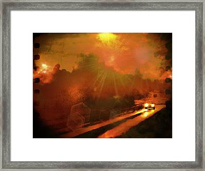 Framed Print featuring the photograph The Long Road Home  by Fine Art By Andrew David