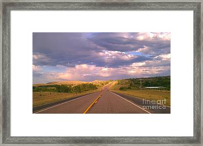 Framed Print featuring the photograph The Long Road Home by Chris Tarpening