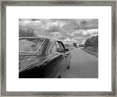 The Long Road Home - Ford Torino Cobra Jet Framed Print by Gill Billington