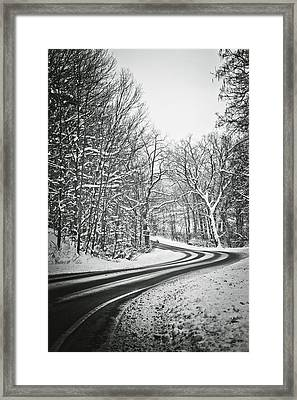 The Long Road Of Winter Framed Print